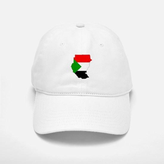 sudan Flag Map Baseball Baseball Cap