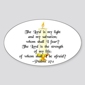 """""""The Lord is my light..."""" Oval Sticker"""
