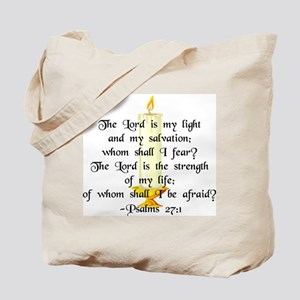 """The Lord is my light..."" Tote Bag"