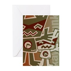 Robot Mascot HT Greeting Cards (10 Pack)