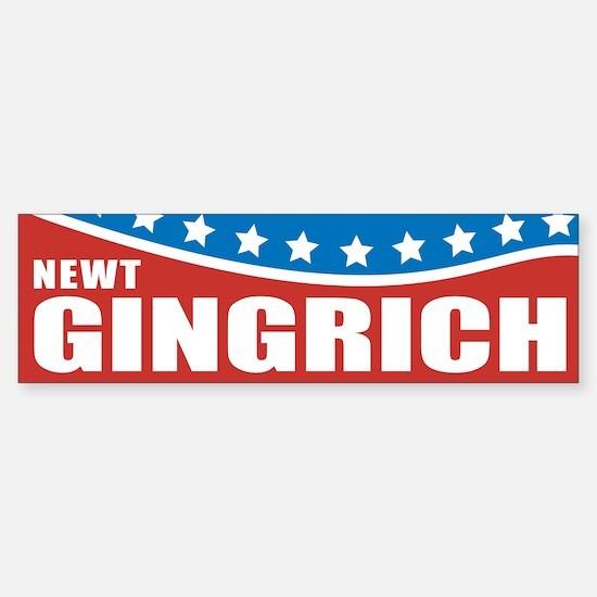 Gingrich Patriotic Bumper Bumper Bumper Sticker