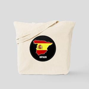 Flag Map of Spain Tote Bag