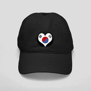 I love South Korea Flag Black Cap
