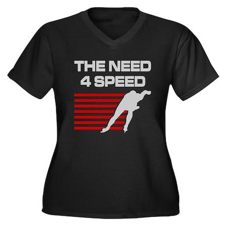 Need 4 Speed Women's Plus Size V-Neck Dark T-Shirt