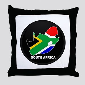 Flag Map of SOUTH AFRICA Throw Pillow