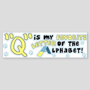 Dog Agility Q Bumper Sticker