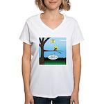 Lemming Leaf Coach Women's V-Neck T-Shirt