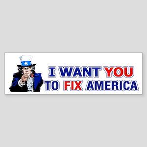 Uncle Sam: Fix America Bumper Sticker