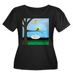 Lemming Women's Plus Size Scoop Neck Dark T-Shirt
