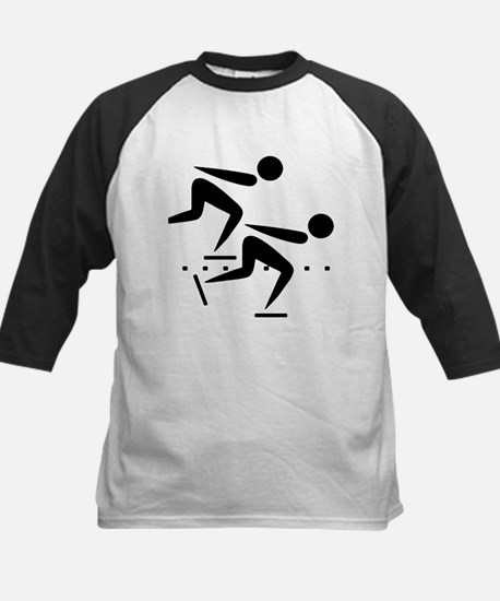Speedskating Kids Baseball Jersey