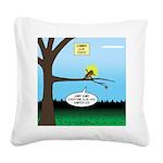 Lemming Leaf Coach Square Canvas Pillow