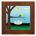 Lemming Leaf Coach Framed Tile