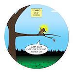 Lemming Leaf Coach Round Car Magnet