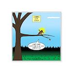 Lemming Leaf Coach Square Sticker 3