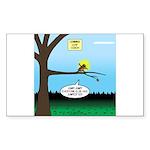 Lemming Leaf Coach Sticker (Rectangle 10 pk)