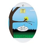 Lemming Leaf Coach Oval Ornament