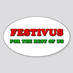 FESTIVUS™ Oval Sticker
