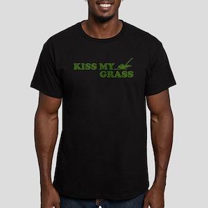 Kiss my Grass Men's Fitted T-Shirt (dark)