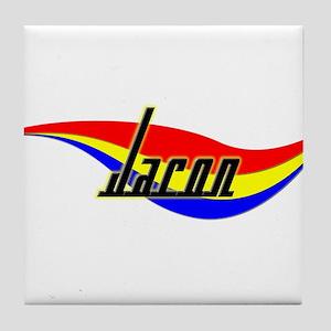 Jaron's Power Swirl Name Tile Coaster