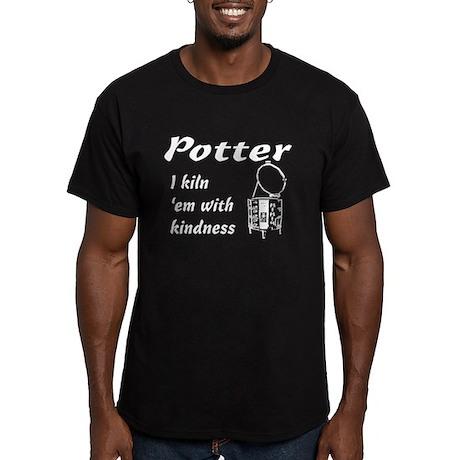 Potter. Kiln em sketch Men's Fitted T-Shirt (dark)