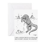 Extinction Cartoon 1750 Greeting Cards (Pk of 20)