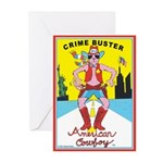 CRIME BUSTERS(American Cowboy) Greeting Cards (6)