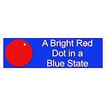 Red Dot/Blue State Bumper Sticker (50 pk)