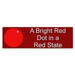 Red Dot/Red State Bumper Sticker (50 pk)