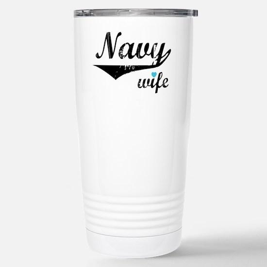 Navy Wife 2 Stainless Steel Travel Mug