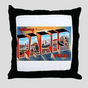 Paris Texas Greetings Throw Pillow