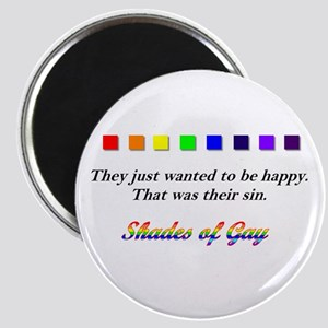 GLBT happiness - small magnet