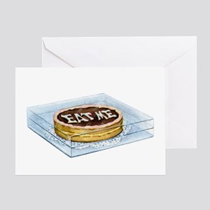 ALICE - EAT ME Greeting Card