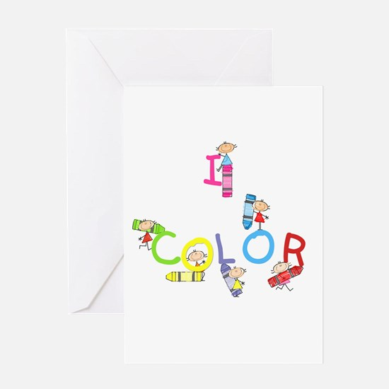 I Color Greeting Card