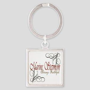 Swirl Stepmom Square Keychain Keychains