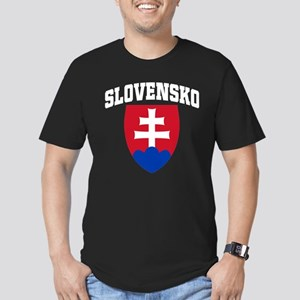 Slovakia Men's Fitted T-Shirt (dark)