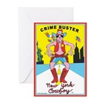 CRIME BUSTER(New York Cowboy) Greeting Cards (6)