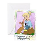 Corgis & Secrets Greeting Card