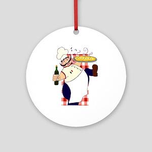 Italian Chef Ornament (Round)