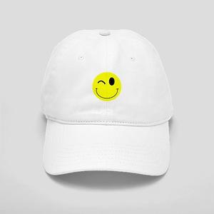 Winking Smiley Cap