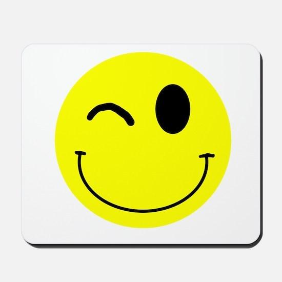Winking Smiley Mousepad