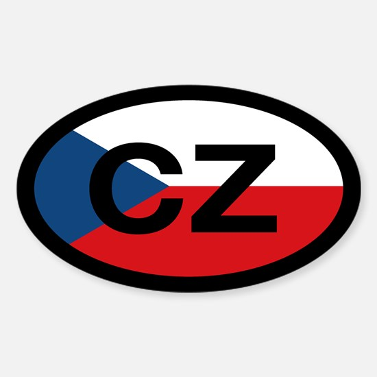 CZ Flag Oval Decal