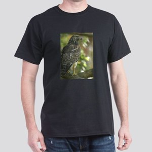 Sharp Shinned Hawk Black T-Shirt