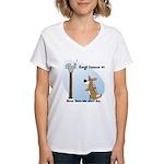 Corgi Lesson Women's V-Neck T-Shirt