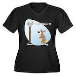 Corgi Lesson Women's Plus Size V-Neck Dark T-Shirt