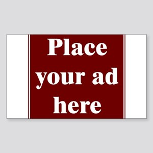 Place Your Ad Here Rectangle Sticker