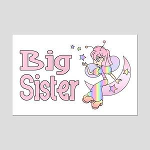 Rainbow Fairy Big Sister Mini Poster Print