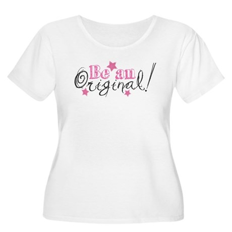Be An Original Women's Plus Size Scoop Neck T-Shir