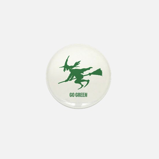 Go Green Wicked Witch Mini Button