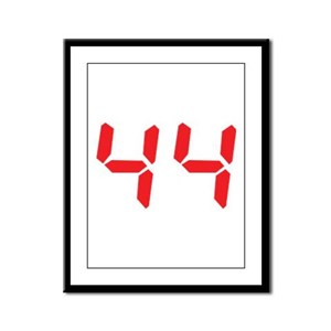 44 fourty-four red alarm cloc Framed Panel Print
