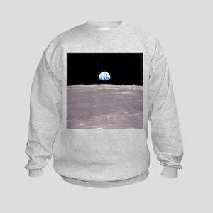Apollo 11 Earthrise Kids Sweatshirt